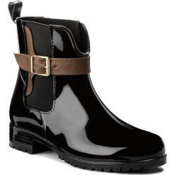 Buty zimowe damskie: Kalosze TAMARIS – 1-25410-29 Black/Cognac 023