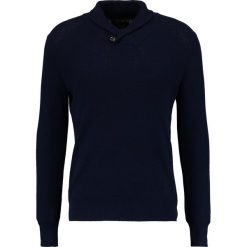 Swetry klasyczne męskie: Cortefiel C3BCK SHAWL ESTRUCTURA AN Sweter marine blue
