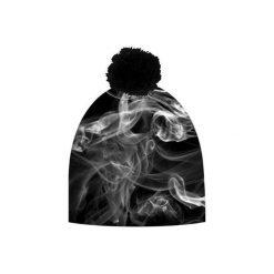 Czapka hauer SMOKE. Czarne czapki zimowe męskie marki Hauer, z nadrukiem, z polaru. Za 69,00 zł.