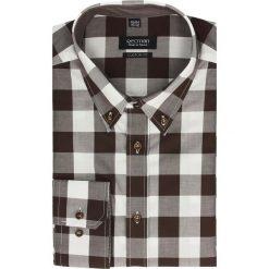 Koszula croft 2136 długi rękaw custom fit brąz. Szare koszule męskie jeansowe marki Recman, m, button down, z długim rękawem. Za 89,99 zł.