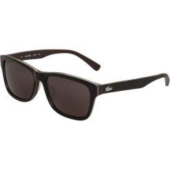 Lacoste Okulary przeciwsłoneczne black/brown. Czarne okulary przeciwsłoneczne męskie Lacoste. Za 629,00 zł.