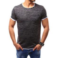 T-shirty męskie z nadrukiem: T-shirt męski bez nadruku grafitowy (rx2351)