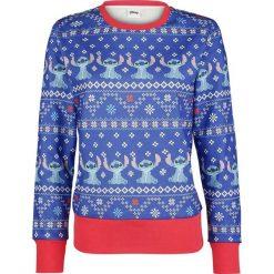 Lilo & Stitch Christmas Stitch Bluza damska niebieski/czerwony. Czerwone bluzy rozpinane damskie Lilo & Stitch, m, z nadrukiem. Za 199,90 zł.