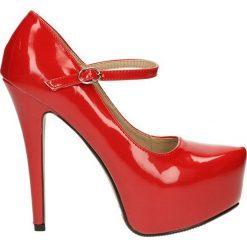 CZÓŁENKA CASU 3302A-4. Różowe buty ślubne damskie Casu, na koturnie. Za 89,99 zł.