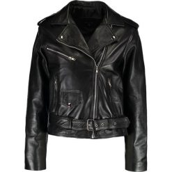 12 Midnight BIKER  Kurtka skórzana black. Czarne kurtki damskie 12 Midnight, z materiału. W wyprzedaży za 616,85 zł.