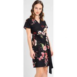 Sukienki hiszpanki: Dorothy Perkins Petite POPPY PRINT WRAP DRESS Sukienka z dżerseju black