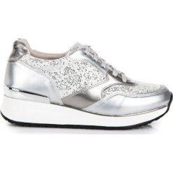 Buty sportowe damskie: KYLIE Buty damskie z brokatem srebrne r. 38