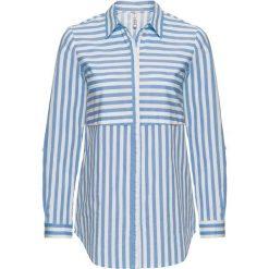 Bluzki damskie: Bluzka w paski: MUST HAVE bonprix niebiesko-biały w paski
