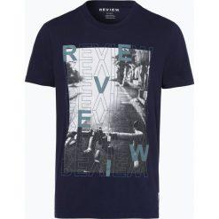 Review - T-shirt męski, niebieski. Niebieskie t-shirty męskie z nadrukiem marki Review. Za 49,95 zł.