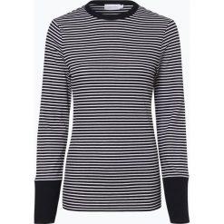 Calvin Klein Womenswear - Damska koszulka z długim rękawem, niebieski. Niebieskie t-shirty damskie Calvin Klein Womenswear, xs, z kontrastowym kołnierzykiem. Za 299,95 zł.