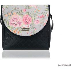 TOREBKA PURO 2064 PINK-GRAY ROSES 2. Różowe torebki klasyczne damskie Pakamera, w kolorowe wzory. Za 179,00 zł.