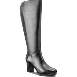 Kozaki CLARKS - Kelda Pearl 261267284 Black Leather. Czarne buty zimowe damskie Clarks, z materiału. W wyprzedaży za 439,00 zł.