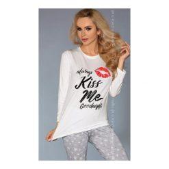 Piżama Sweet Kiss 109 Ecru-szara. Czarne piżamy damskie marki LivCo Corsetti. Za 105,90 zł.
