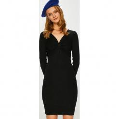 Morgan - Sukienka. Czarne długie sukienki marki Morgan, na co dzień, l, z dzianiny, casualowe, z długim rękawem, dopasowane. Za 269,90 zł.