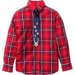 Koszula ze świątecznym krawatem (2 części) bonprix czerwono-niebieski. Białe koszule męskie na spinki marki Reserved, l. Za 69,99 zł.