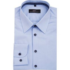 Koszula LUIGI 15-12-18-K. Niebieskie koszule męskie na spinki Giacomo Conti, m, z bawełny, z klasycznym kołnierzykiem, z długim rękawem. Za 199,00 zł.