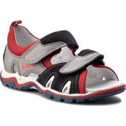 Sandały BARTEK - 16187-1/207 Szaro Czerwony. Niebieskie sandały męskie skórzane Bartek. W wyprzedaży za 189,00 zł.
