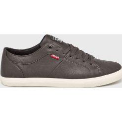 Levi's - Buty Woods. Brązowe buty skate męskie Levi's®, z gumy, na sznurówki. W wyprzedaży za 199,90 zł.