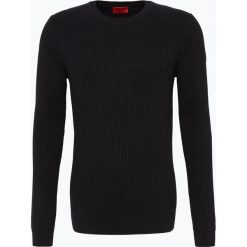 HUGO - Sweter męski – Somael, czarny. Czarne swetry klasyczne męskie HUGO, m, z dzianiny, z klasycznym kołnierzykiem. Za 779,95 zł.