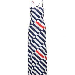 Długie sukienki: Sukienka w paski bonprix biało-niebiesko-czerwony w paski