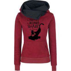 Bluzy rozpinane damskie: Kubuś Puchatek Hug Bluza z kapturem damska czerwony