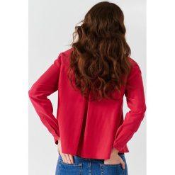 Simple - Koszula. Szare koszule damskie marki Simple, z poliesteru, ze stójką, z długim rękawem. W wyprzedaży za 239,90 zł.