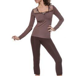 Piżamy damskie: Piżama w kolorze czekoladowym
