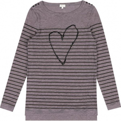 """Sweter """"Marianne"""" w kolorze szarobrązowym. Brązowe swetry klasyczne damskie marki Ateliers de la Maille, z okrągłym kołnierzem. W wyprzedaży za 181,95 zł."""