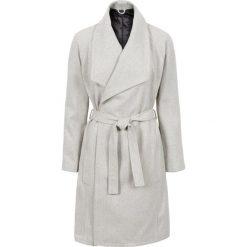 Krótki płaszcz z wykładanym kołnierzem bonprix jasnoszary melanż. Szare płaszcze damskie bonprix, melanż, eleganckie. Za 189,99 zł.