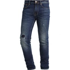 Jeansy męskie regular: Burton Menswear London PATCHWORK Jeans Skinny Fit blue