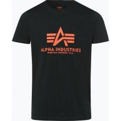 Alpha Industries - T-shirt męski, niebieski. Niebieskie t-shirty męskie z nadrukiem Alpha Industries, m. Za 89,95 zł.