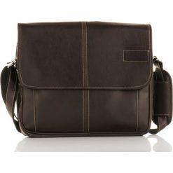 MONTEZ Męska brązowa miejska torba na ramię. Brązowe torby na ramię męskie marki Kazar, ze skóry, przez ramię, małe. Za 169,00 zł.