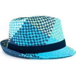 Kapelusze damskie: Art of Polo Kapelusz damski Lato w kratę niebieski