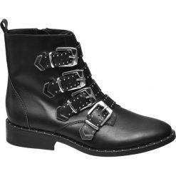 Botki damskie na obcasie: botki damskie Graceland czarne