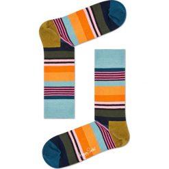 Happy Socks - Skarpety Multi Stripe. Brązowe skarpetki męskie Happy Socks, z bawełny. W wyprzedaży za 29,90 zł.