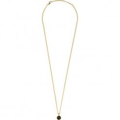 Naszyjnik w kolorze złotym z kryształem Swarovski - (D)50 cm. Brązowe naszyjniki damskie Dyrberg Kern, z mosiądzu. W wyprzedaży za 97,95 zł.