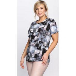 Niebieski T-shirt Violet Hill. Niebieskie bluzki damskie Born2be, l. Za 29,99 zł.