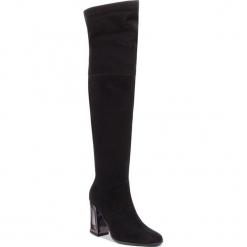 Muszkieterki SOLO FEMME - 45617-32-G70/000-01-00 Czarny. Czarne buty zimowe damskie Solo Femme, ze skóry, na obcasie. Za 639,00 zł.