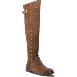 Muszkieterki ALMA EN PENA - I18335  Brown. Brązowe buty zimowe damskie Alma en Pena, z materiału, przed kolano, na wysokim obcasie. W wyprzedaży za 449,00 zł.