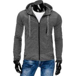 Bluzy męskie: Bluza męska z kapturem rozpinana antracytowa (bx2270)