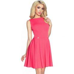 Sukienki: Ariane – sukienka z francuskim cięciem i spódnicą z koła koralowy
