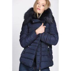 Granatowa Kurtka Make the Grade. Czarne kurtki damskie pikowane marki Born2be, na zimę, l. Za 169,99 zł.