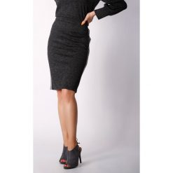 Spódniczki z wysokim stanem: Spódnica w kolorze czarno-szarym