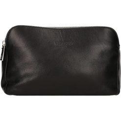 Torebki klasyczne damskie: Skórzana torebka w kolorze czarnym – 24 x 16 x 9 cm