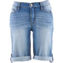 Szorty dżinsowe bonprix niebieski. Niebieskie bermudy damskie bonprix, z jeansu, klasyczne. Za 74,99 zł.