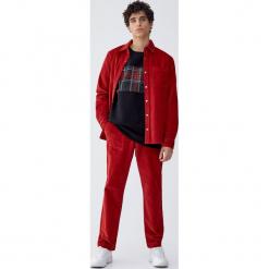 Bluza z panelem w szkocką kratę. Czarne bluzy męskie rozpinane Pull&Bear, m. Za 89,90 zł.
