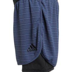 Adidas Performance CHILL SHORT Krótkie spodenki sportowe nobind/black. Niebieskie spodenki chłopięce adidas Performance, z materiału, sportowe. Za 129,00 zł.