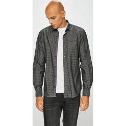 S. Oliver - Koszula. Szare koszule męskie na spinki S.Oliver, l, w kratkę, z bawełny, z włoskim kołnierzykiem, z długim rękawem. Za 169,90 zł.