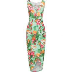 Sukienki: Sukienka w kwiatowy deseń bonprix jasnozielono-jasnopomarańczowo-różowy