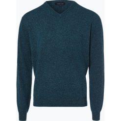 Swetry klasyczne męskie: Andrew James – Sweter męski z dodatkiem jedwabiu, niebieski